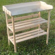 Istutuspöytä, 89,95€. Tämän kauniin puisen pöydän avulla, kasvien ja kukkien istuttaminen on mukavaa - sekä sisätiloissa että ulkona! Ilmainen toimitus!