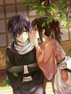 Yato e Hiyori_Noragami Anime Noragami, Yatogami Noragami, Manga Anime, Yato And Hiyori, Manga Love, I Love Anime, Awesome Anime, Yatori, Image Couple
