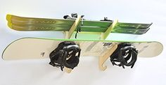 Snowboard Ski Hanging Wall Rack  Holds 2 Boards ** Read more reviews of the product by visiting the link on the image.