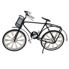 Black Bicycle | Free Shipping over $225 @ miniatures.com