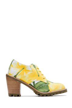 Ботинки из текстиля F-TROUPE Yellow Hawaii / 2000000006726