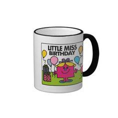 Little Miss Birthday Scene Coffee Mugs
