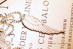 White Turquoise Angel Wing Necklace