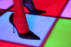 Verlichte dansvloer Led Dance, Event Styling, Catwalk, Stiletto Heels, Christian Louboutin, Floor, Pumps, Pavement, Boden