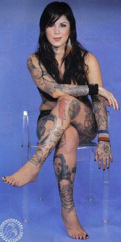 Kat Von D cuando mas llenita...igual de bella