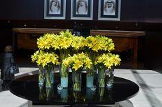 Flowers at the lobby of JW Marriott Marquis Dubai by ranjankhoteja