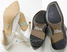 Bride I do Shoe Stickers and Groom She's Mine Shoe Stickers Wedding Supplies | eBay