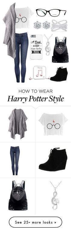 """""""Week 6- Day 2"""" by jollyme on Polyvore featuring City Classified, Chicnova Fashion, Effy Jewelry and Happy Plugs"""