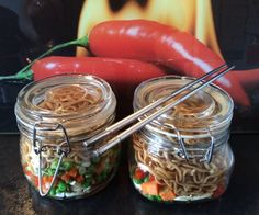 This is my first instructable. Inspired and adapted by a post by Kenji here http://www.seriouseats.com/2014/09/diy-instant-noodle-cups-food-lab.htmlOriginally featured in Hugh Fearnley-Whittingstall's 'River Cottage Veg' it's a great idea for quick office lunches that can be made in bulk and are good to refrigerate for 5 days. I make mine on a Sunday evening and get them lined up for the week.This example is for 2 pots so x2.5 for 5 days worth. It's also a vegetarian option so you can use…