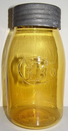 1976 Amber BBGMCO Ball Buffalo Quart Reproduction Fruit Jar. I have this one. Only 2 real ones known.