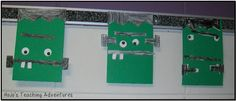 Frankenstein art project for a fun Halloween craft!