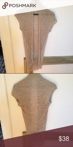 Anthropologie Cap Sleeve Vest Loose stitch vest, great as a layering piece. EUC Anthropologie Sweaters Shrugs & Ponchos