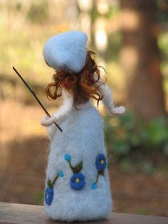Needle felted goosegirl waldorf inspired by Made4uByMagic on Etsy