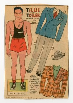 78.2317: Tillie the Toiler: Max Baer | paper doll | Paper Dolls | Dolls | National Museum of Play Online Collections | The Strong
