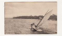 Sailing on White Lake Michigan 1924 Real Photo Postcard | eBay
