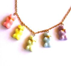 Hey, I found this really awesome Etsy listing at https://www.etsy.com/listing/124054167/pastel-gummy-bears-necklace-kawaii-candy