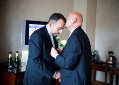 Frank and Eric: The Big Gay Wedding Project.  Click through for more delightful, uplifting pics of happy weddings.