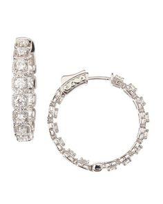 Diamond Illusion-Hoop Earrings by Neiman Marcus Diamonds at Neiman Marcus $3276.00