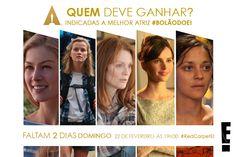 Post de contagem regressiva com indicados ao Oscar 2015 para redes sociais do canal E!