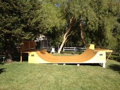 wide Halfpipe available on sale now by OC Ramps. The leaders in Skateboard ramp, skate ramps, mini ramps and half pipes. Camping In Ohio, Camping World, Scooter Ramps, Backyard Skatepark, Outdoor Spaces, Outdoor Living, Mini Ramp, Bowls, Skateboard Ramps
