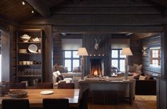 Scandinavian Chalet Interior — Christian's & Hennie - www.christiansoghennie.no