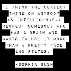 This is why I love Sophia Bush. Easily one of the most intelligent, beautiful, talented, and genuine women in Hollywood.
