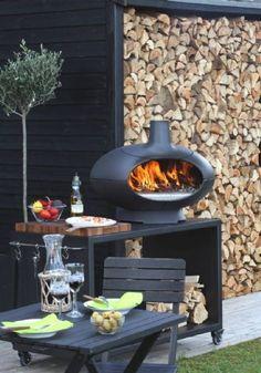 Morsøe #Forno #outdoors - koster en million, men det ku' være hyggeligt med en lille udendørs pejs (på et selvdesignet stel)
