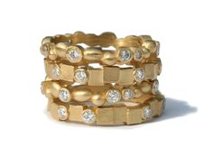 Megan Thorne Cobblestone and Pebblestone Stack Rings #stjohnsjewelers #meganthorne