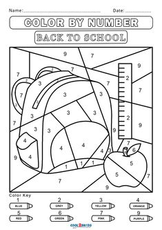 Art and craft have always been one of the most efficient tools for early education and cognitive development. Printable coloring pages and other similar Number Worksheets Kindergarten, Kindergarten Colors, Preschool Colors, Numbers Preschool, Kindergarten Activities, Bear Coloring Pages, Coloring For Kids, Free Coloring, Alphabet Coloring