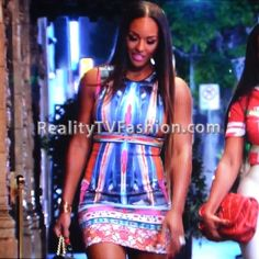 "Brandi Maxiell's Clover Canyon Long Board Neoprene Dress on ""Basketball Wives L.A.""  Also seen on Khloe Kardashian"
