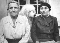 Gertrude Stein & Alice Toklas: American writers who were members of the Parisian avant-garde movement. They met in Paris, fell in love instantly, moved in together and became inseparable. Their apartment on 27 Rue de Fleurus was the meeting center for some of the greatest artists of the century such as Pablo Picasso, Henri Matisse, Hemingway and F. Scott Fitzgerald.