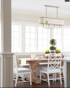 banquette - 1101 kitchen, under windows, like the freestanding feet concept?