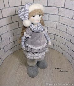 """We make a frame doll """"Snow Cloud"""" - a master class for beginners and professionals Cheap Christmas, Christmas Gnome, Christmas Projects, Barbie Dolls Diy, Diy Doll, Doll Making Tutorials, Doll Patterns Free, Preschool Christmas, Doll Tutorial"""