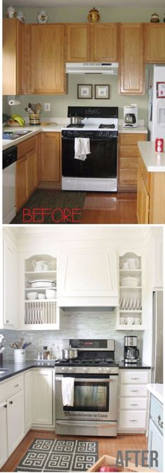 DIY Kitchen Makeover Ideas - Range Hood Makeover - Cheap Projects Projects You Can Make On A Budget - Cabinets, Counter Tops, Paint Tutorials, Islands and Faux Granite. Tutorials and Step by Step Instructions http://diyjoy.com/diy-kitchen-makeovers