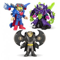 DC Super Friends Battle Armor Assortment - Crime-fighting in Metropolis gets more exciting with Imaginext Battle Armor Assortment! When Superman challenges Lex Luthor just place the robot over the Lex Luthor figure so he's covered in kryptonite body armor to weaken the Man of Steel! Can anyone defeat him now?