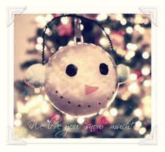Snowman Ornaments with Elmer's Painters