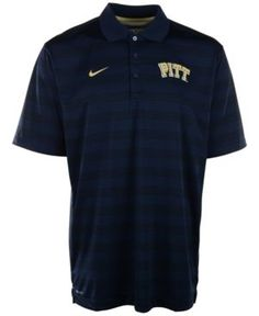 Nike Men's Pittsburgh Panthers Dri-fit Preseason Polo Shirt - Blue S