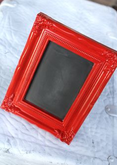 """I also have a frame like this in pink, and we could make a sign to put inside it that says """"Thank you."""" :o)"""