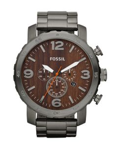 Men's Nate Smoke/Wood Dial Watch by FOSSIL | Hudson's Bay