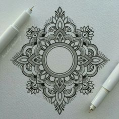 Mandala tattoos have been popular around the world for many years, and now its trend is getting higher and higher. mandala comes from Hinduism and Buddhism, and many people choose it as a tattoo design because it looks delicate and beautiful. Mandala Tattoo Design, Dotwork Tattoo Mandala, Henna Tattoo Designs, Henna Mandala, Mandala Sketch, Mandala Doodle, Lotus Mandala, Small Mandala Tattoo, Tattoo Ideas