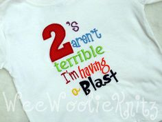 Terrible 2 | Terrible Two's T Shirt Boys Applique Embroidered Boutique Style 2nd ...