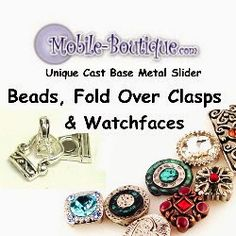 Unique selection of slider beads and fold over magnetic clasps.
