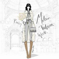 Fashion Sketchbook, Fashion Sketches, Fashion Illustrations, Art Illustrations, Megan Hess Illustration, Kerrie Hess, Dress Sketches, Milan Fashion Weeks, London Fashion