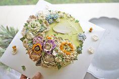 swing flower cake