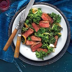 Sprinkle this restaurant-style steak salad with crumbled blue cheese for even more flavor.