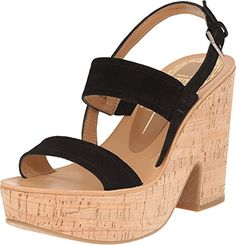Dolce Vita Womens Tilly Black Suede Sandal 65 M ** Check out the image by visiting the link.