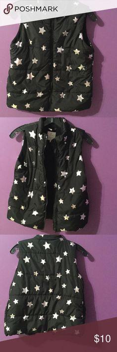 Black & Silver stars Vest for girls Size XL 14 Nice New starts vest Jackets & Coats Vests