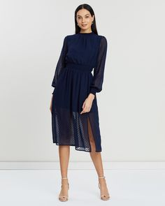 Dresses Online Australia, Buy Dresses Online, Fitted Bodice, No Frills, Hue, Hemline, Blue Dresses, Thighs, Cold Shoulder Dress