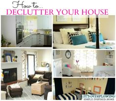 How to Declutter a House AND Free Printables to Help the Process! @ItsOverflowing.com