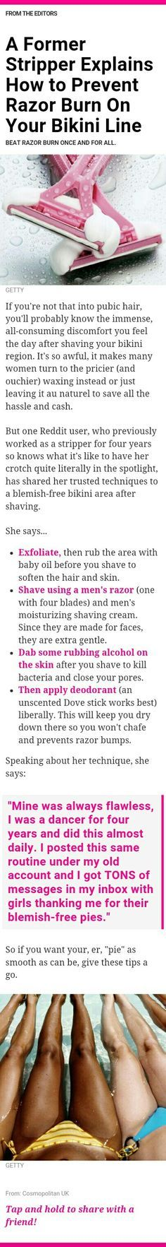 Ha Ha this is awesome, and smart! Bikini line shaving tips Beauty Care, Diy Beauty, Beauty Skin, Beauty Hacks, Health And Beauty Tips, Health Tips, Danielle Victoria, Shaving Tips, Def Not